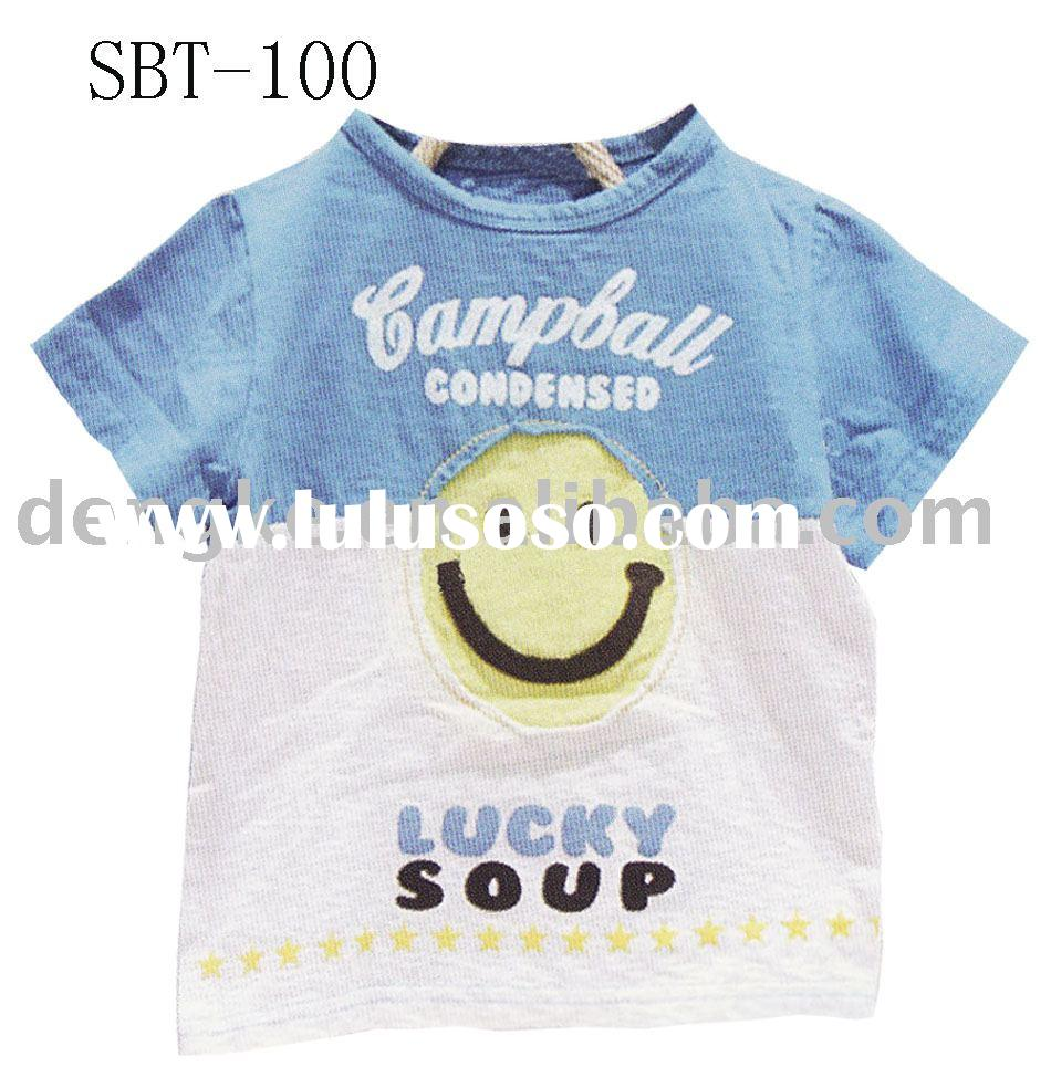 fashion boy t-shirt with embroidery