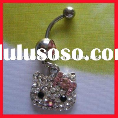fashion hello kitty body jewelry belly ring