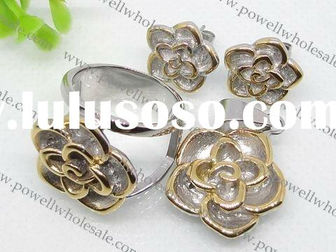 flower shape jewelry set