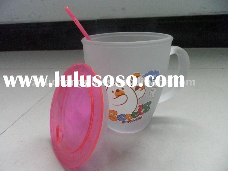 frosted cartoon egg shape glass cup