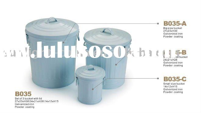 Galvanized Mini Bucket 0.5L With Lid For Sale