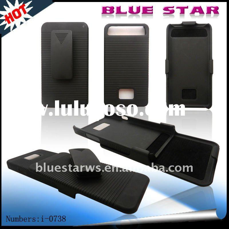 hard skin shell cover case+belt clip holster for samsung galaxy s2/i9100