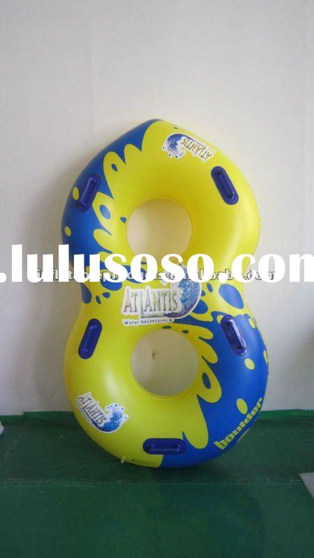 high quality PVC inflatable double tube,double ring