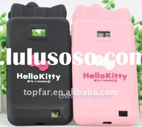 i9100 case,cute hello kitty silicon case for samsung galaxy s 2 i9100case