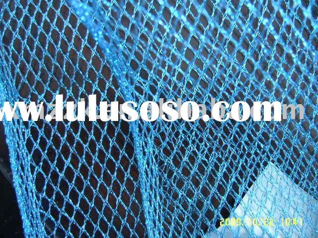 metallic net metallic fish net mesh fabric knitted fabric