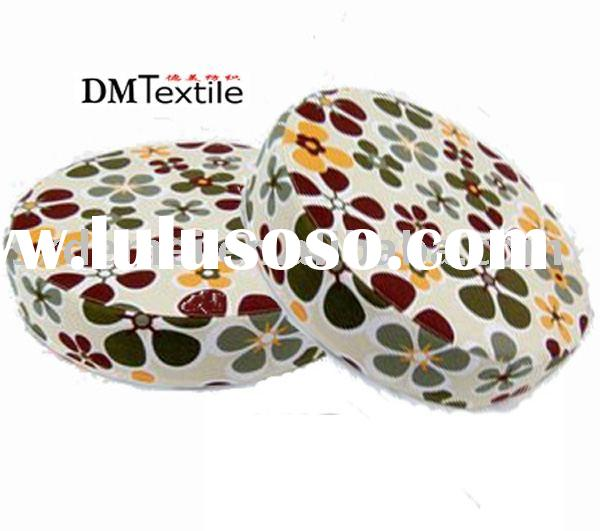 printed cotton canvas round seat cushion
