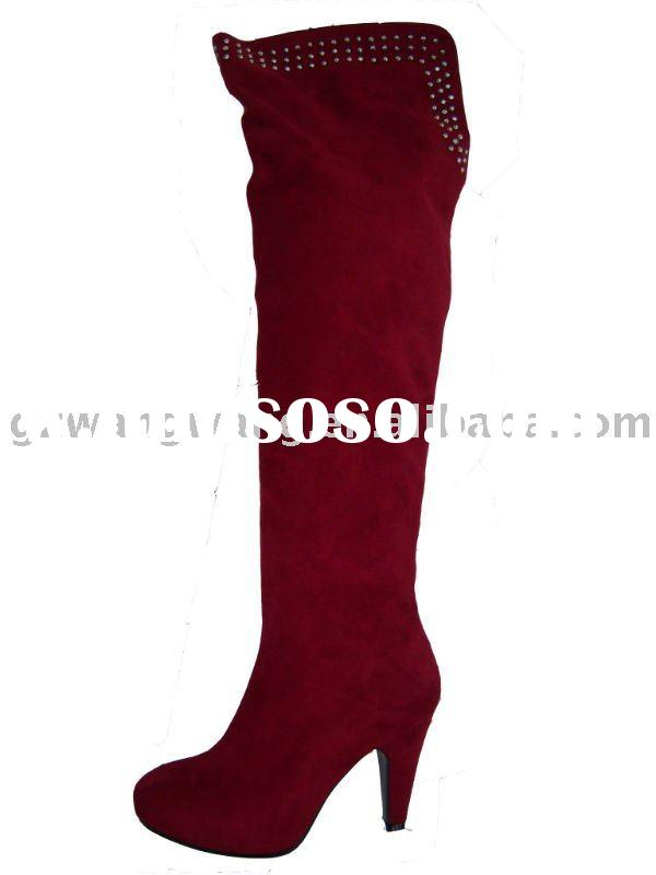 red fashion lady high heel boots