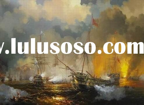 seascape oil painting,ocean waves oil painting,classic boat painting