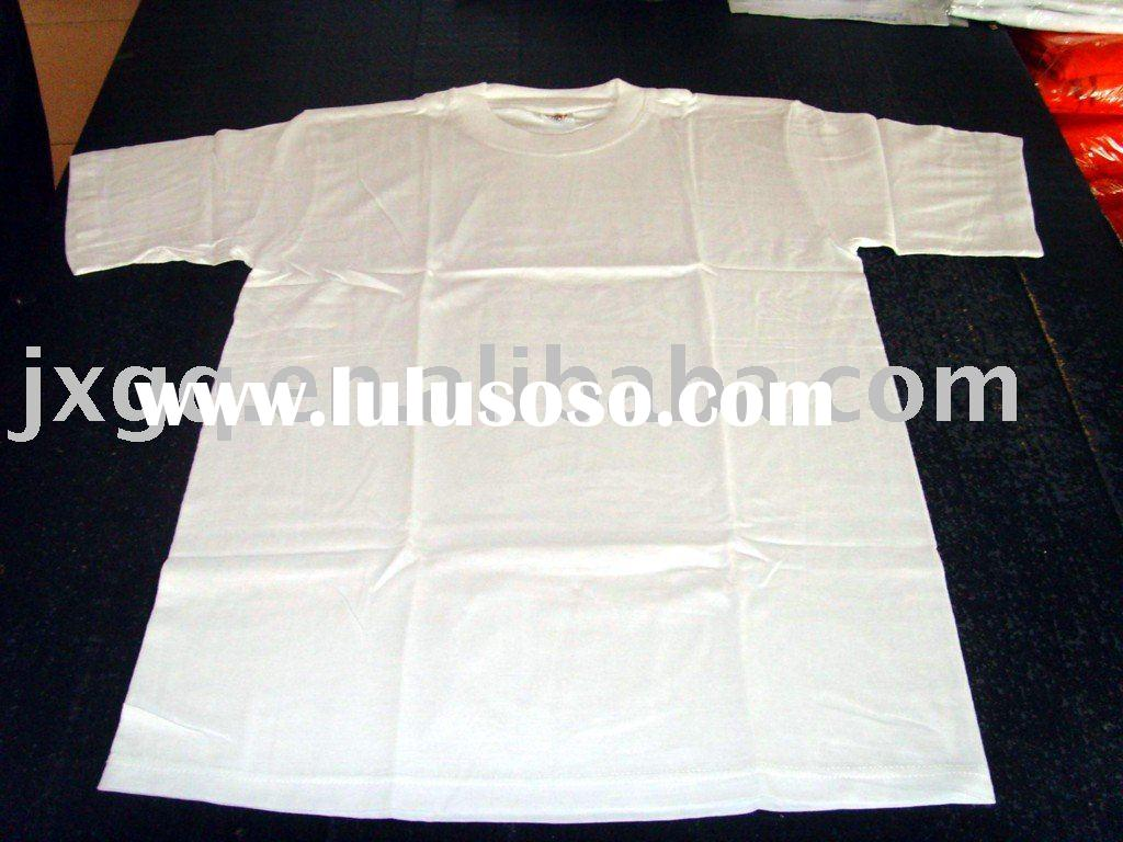 simple white blank cotton t-shirts