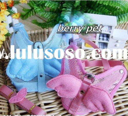 soft nylon dog harness pet vest harness with matching leash