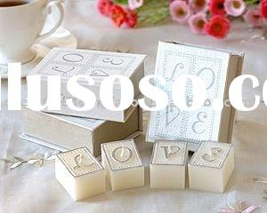 wedding favor--Book of Love Candle Set