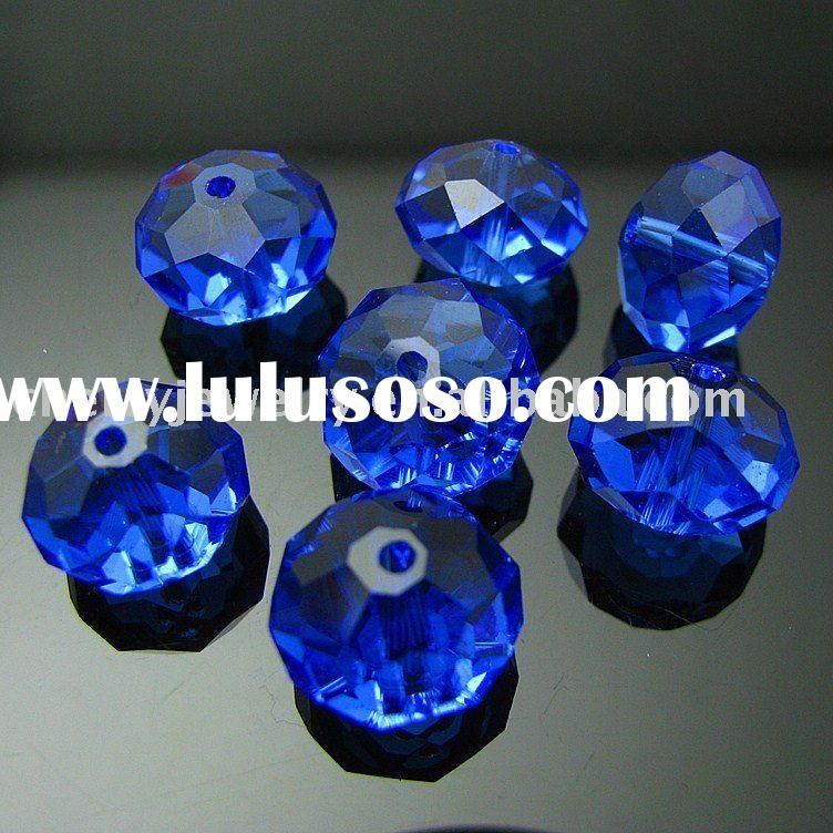 whole sale fashion jewelry royal blue rondelle crystal bead