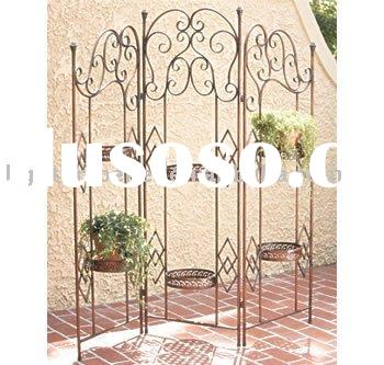wrought iron folding screen plant holder