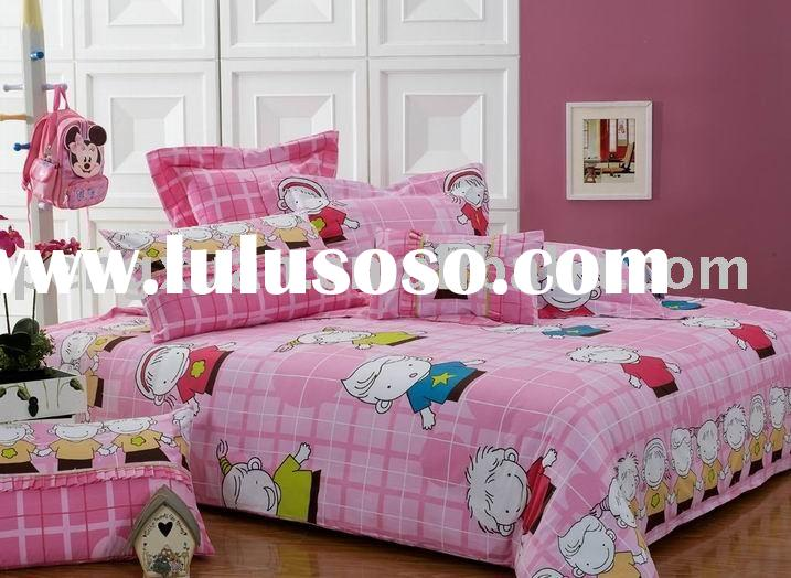 100%cotton bedding set/bedspread/kids bedcover/children bedding set/bedcover/bedsheets/cartoon bedsh