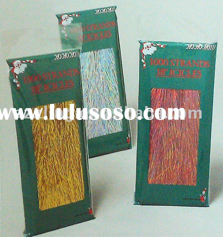 """18"""" Christmas Tinsel Icicles with Foil / Hologram Finish"""