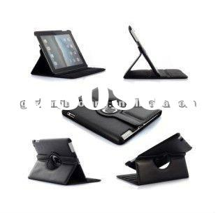 2011 360 degree rotating Leather case Cover for ipad 2