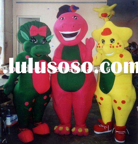 2011 hot highest quality barney and friends mascot costumes