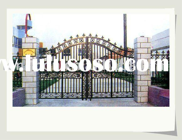2011 newest modern wrought iron gate grill design(I-G-0051)