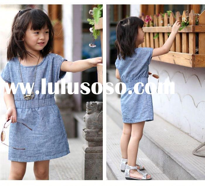 2012 new design lovely girls' dresses&T-shirts for summer kids fashion dresses