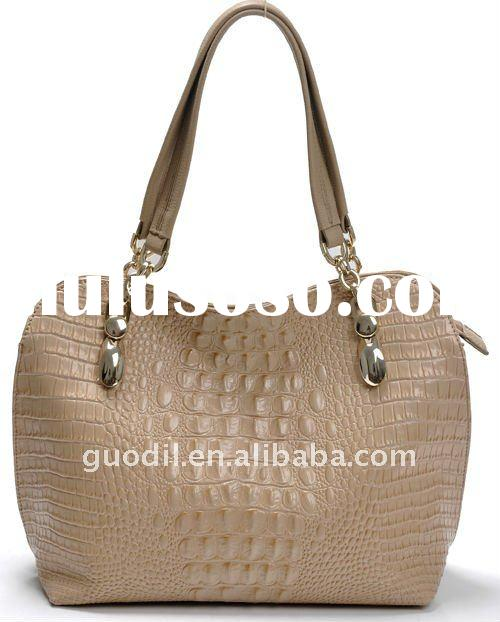 2012 new designer crocodile leather handbag