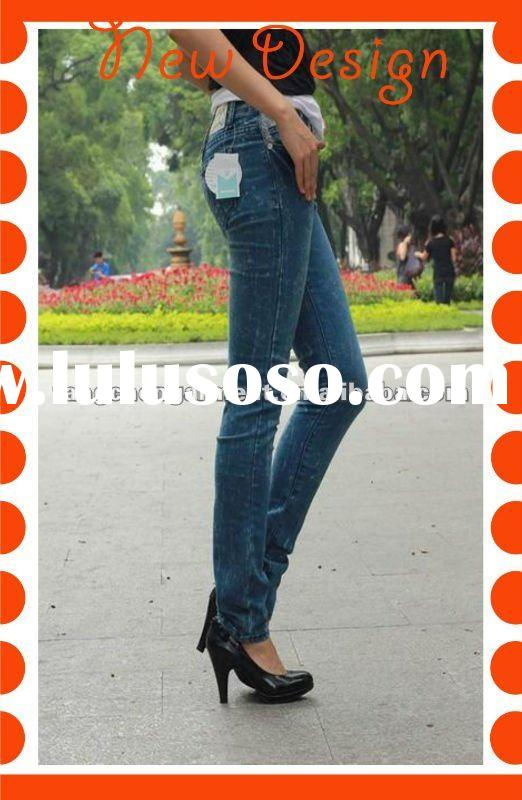 2012 new style Lady jeans pants,denim jeans embroidery pocket design