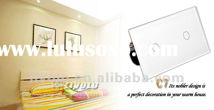 220V/50~60Hz ,2GANG 2WAY Touch Control Wall Light Switch