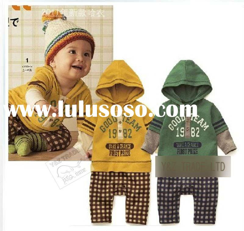 3pcs/lot wholesale 2011 hot sale XF0012 1982 baby winter romper baby child clothes rompers baby clot