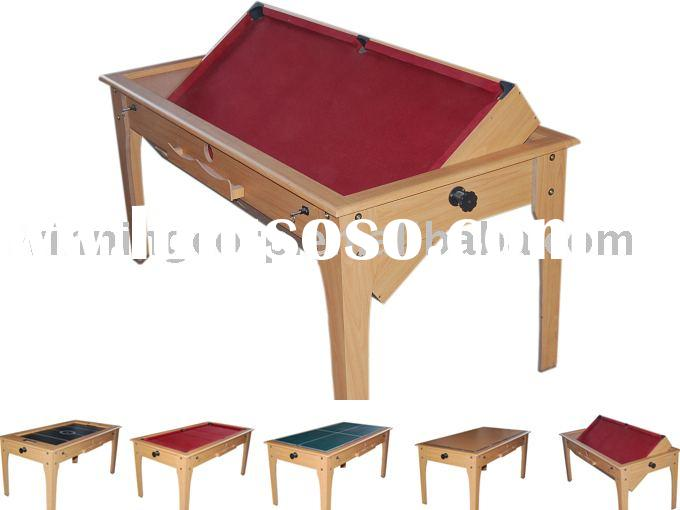 4 in 1 multi-function game table, air hockey,pool table,pingpong,table