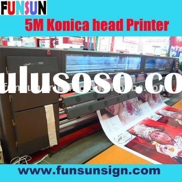 5m Large format solvent Printer with Konica head