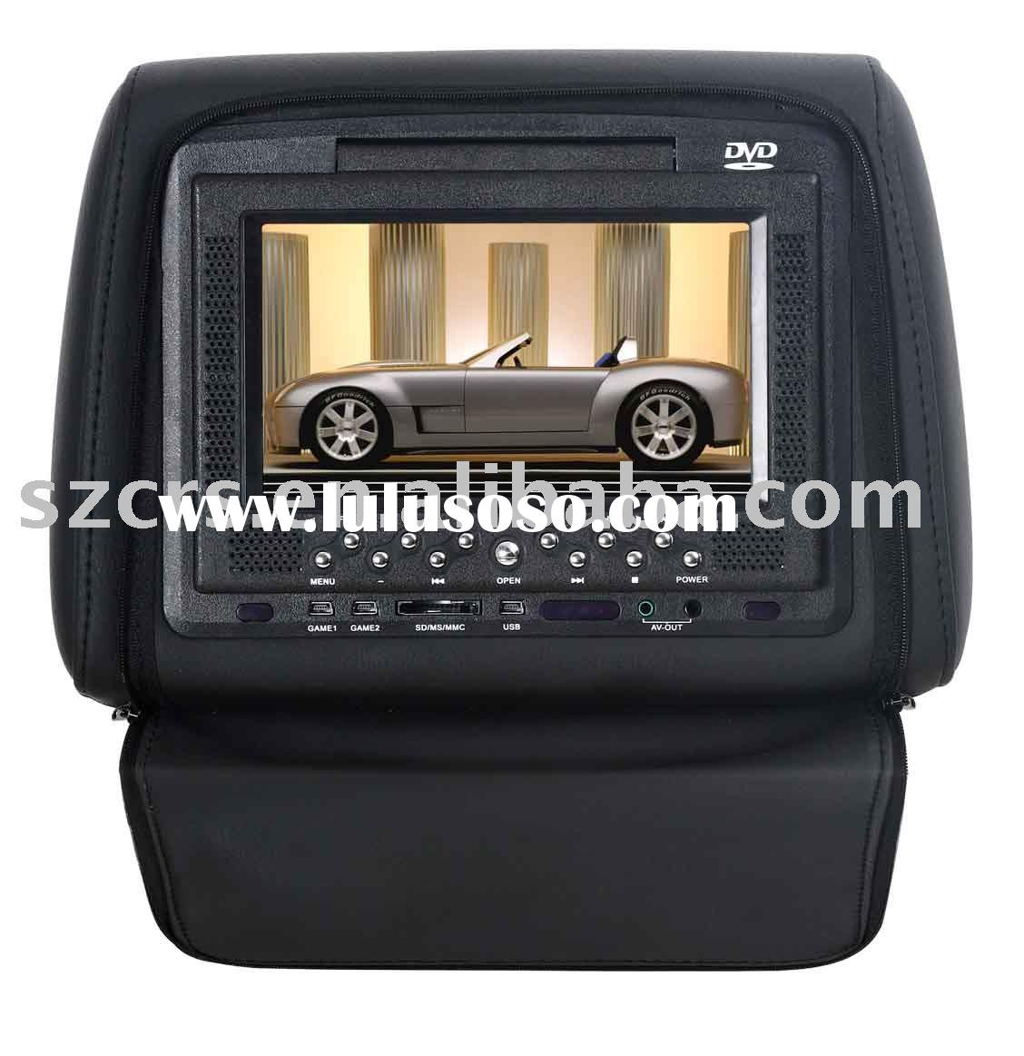 7'' Car Headrest Dvd Player With Game/USB/SD/cover/Car DVD/CAR VIDEO