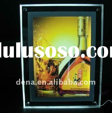 A0/A1/A2/A3/A4/A5 Ultra-thin Acrylic/Crystal LED Light Frame