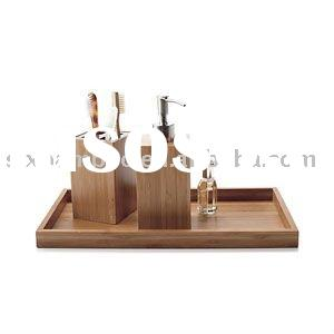 Bamboo Bath Accessories Set