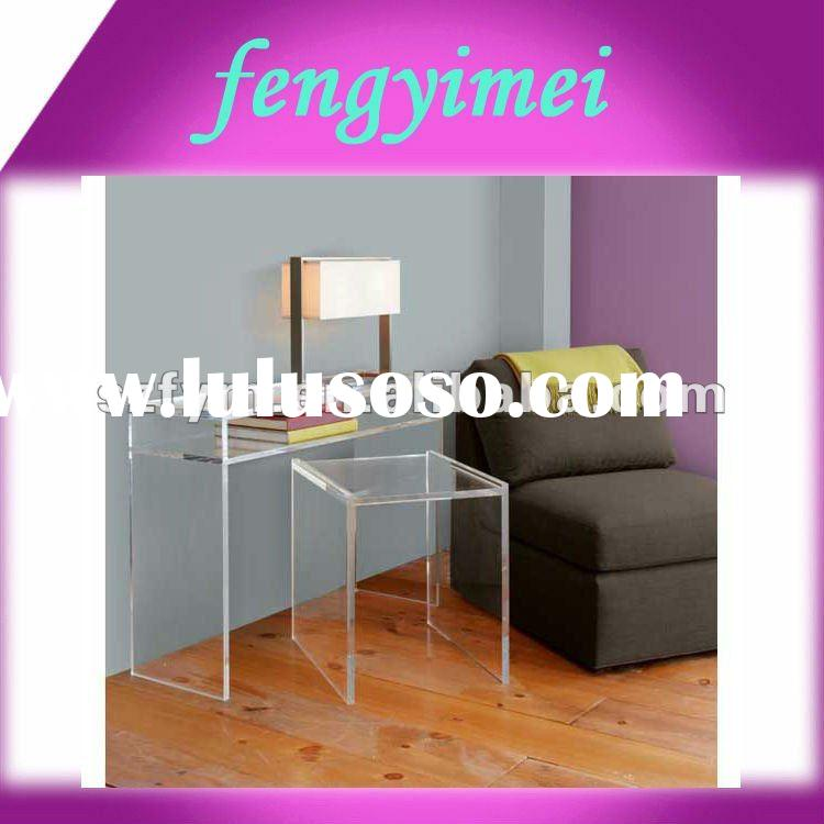 Clear acrylic desk /perspex side table/plexiglass end table/lucite tea table