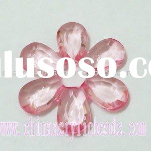 Crystal flower jewelry pendant, clear acrylic pentant, clear plastic beads