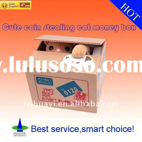 Cute coin stealing cat money box,saving box,money bank,toys