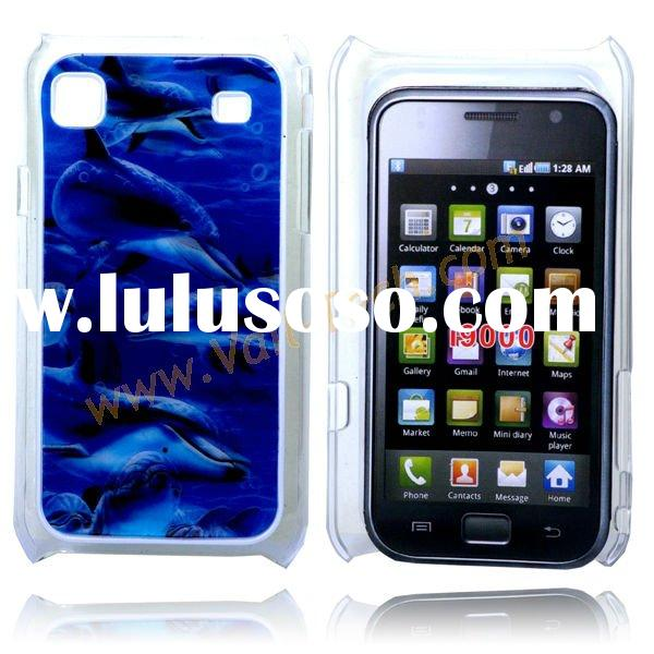 Fantastic 3D Swimming Dolphin Hard Case Shell Skin For Samsung Galaxy S i9000-Blue