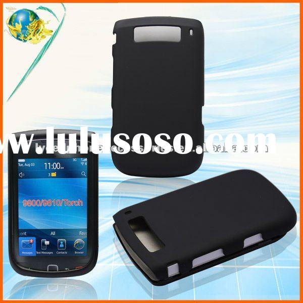 For Blackberry Torch 9800/9810 black rubber solid hard phone case