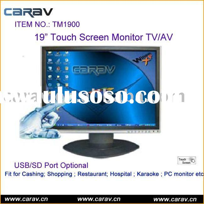 LCD Monitor - touch screen monitor -19 Inch Touch Screen Monitor TV Optional