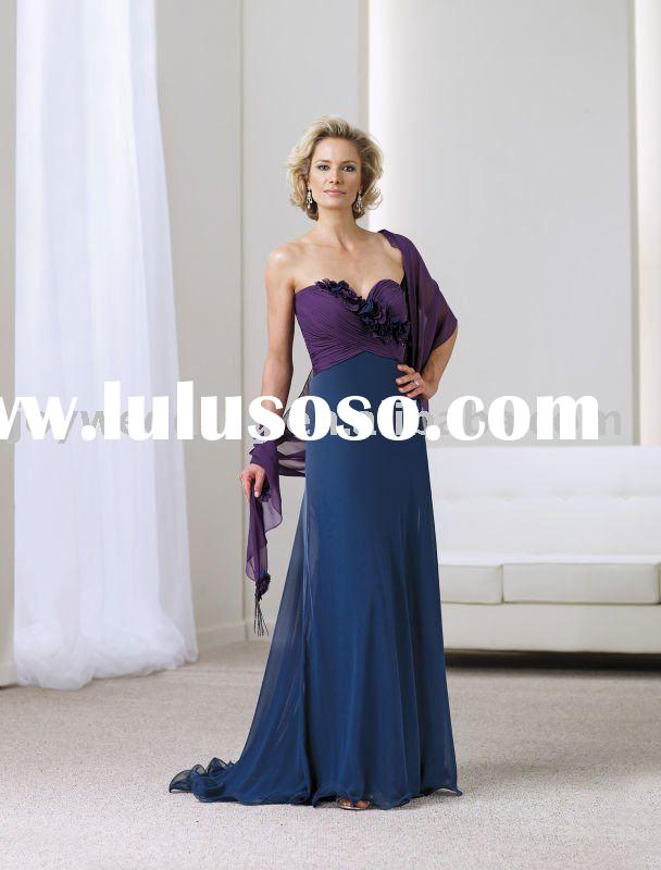 MM0591 free shipping A-line ball gown chiffon formal gown bridesmaid bridal wedding mother sweethear