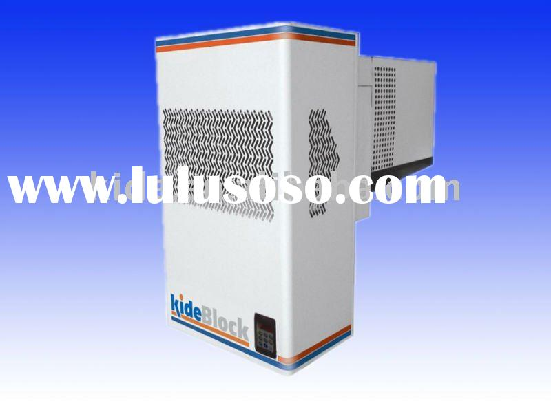 Monoblock refrigeration unit for chiller and freezing rooms