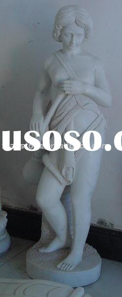 Natural white marble statue