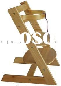 New Classic Wooden Baby Children's Safety High Chair