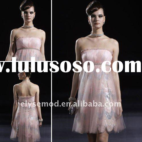 New Fresh Looking Pink Tulle Formal Evening Dress Short
