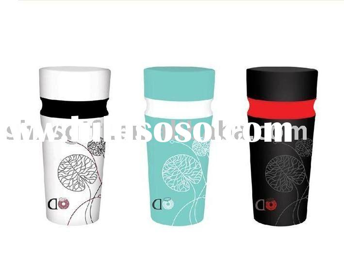 New style fashion double wall plastic water cup