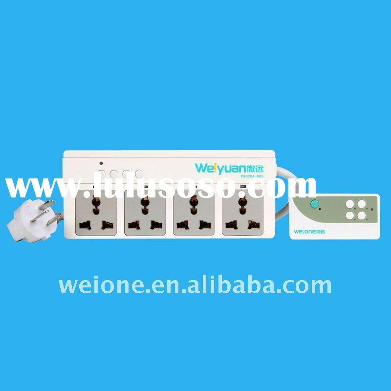 OEM/ODM rf radio frequency 4 CH remote control wall multi outlet socket