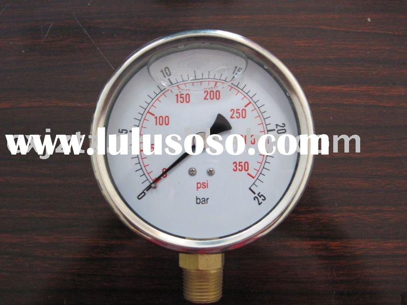 Oil-filled stainless steel pressure gauge