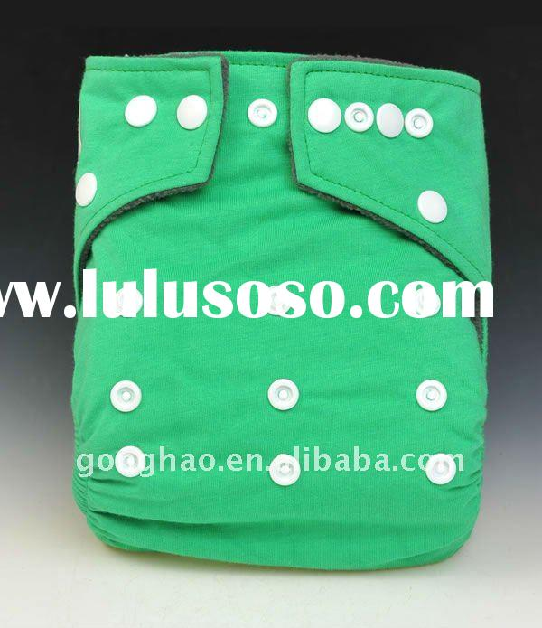 Organic Bamboo cotton baby cloth diaper with Bamboo inserts