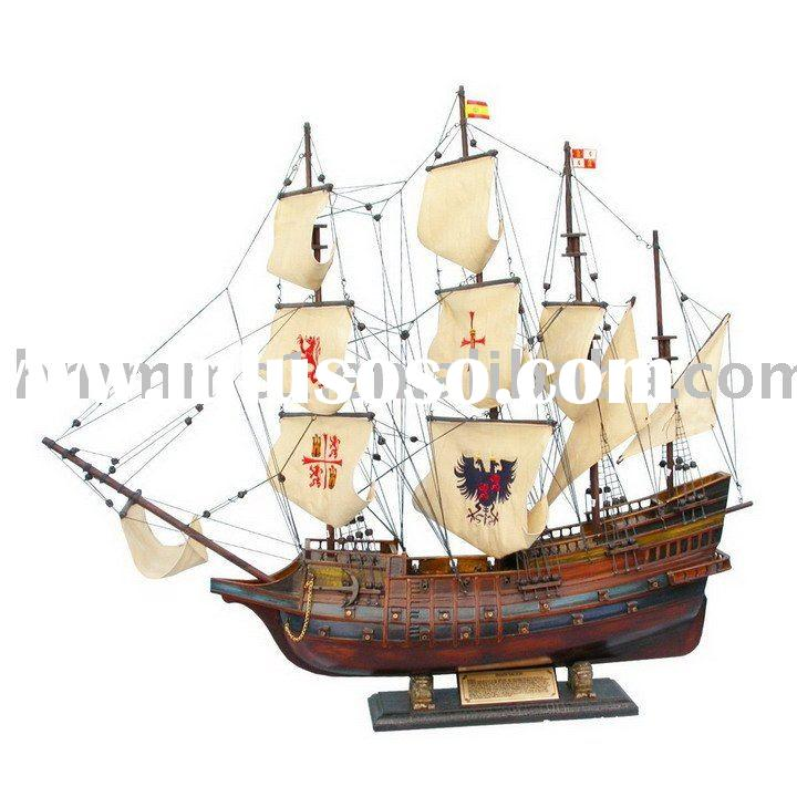 Pirate ship model/Spanish Galleon Wooden ship model
