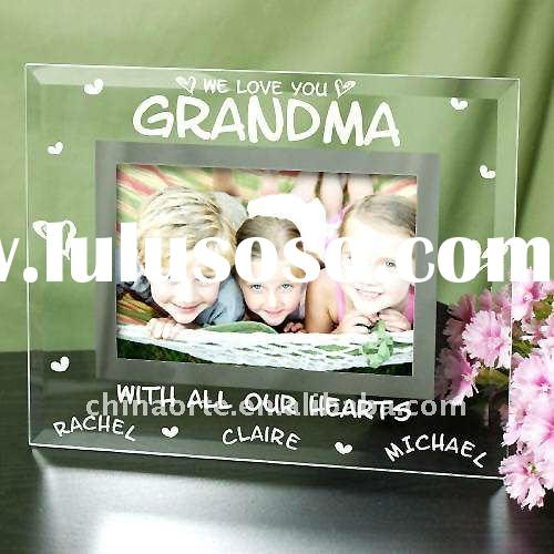 Presonalized Square Shape Crystal Picture Photo Frame With Children's Photo For Baby Souveni