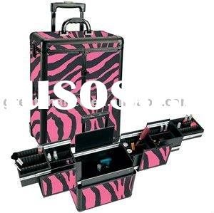 Professional Makeup Cases on Professional Zebra Rolling Cosmetic Case For Sale   Price China